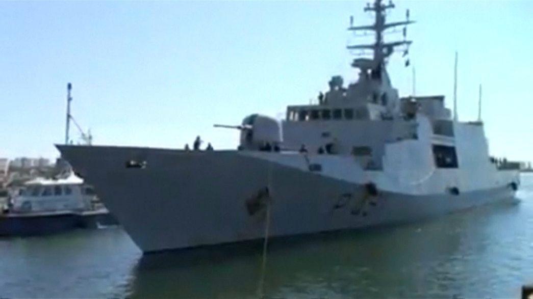 وصول سفينة حربية إيطالية إلى طرابلس