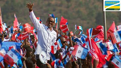 Rwanda's Kagame heading for a third term, wins 98.6% of votes counted