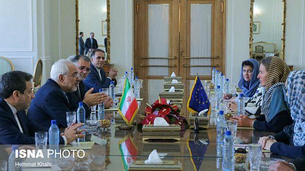 دیدارهای موگرینی با مقامات ایران در حاشیه مراسم تحلیف روحانی