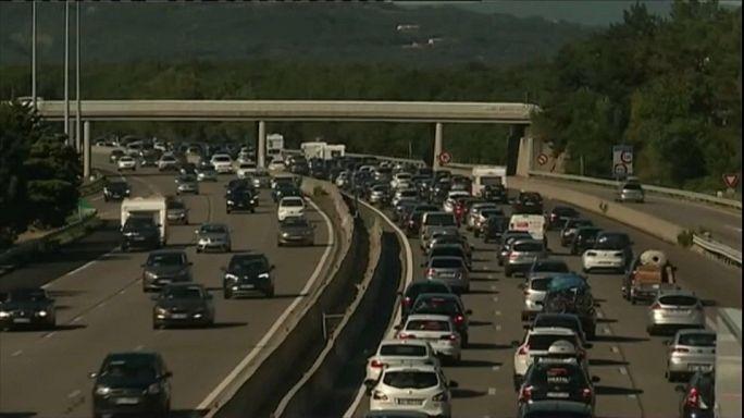Extrém forgalom a francia autópályákon