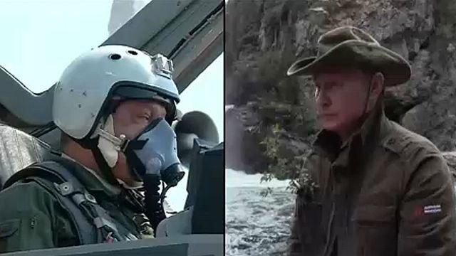 Putin and Poroshenko on holiday