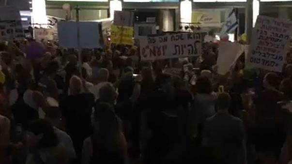 Angry protests in Israel