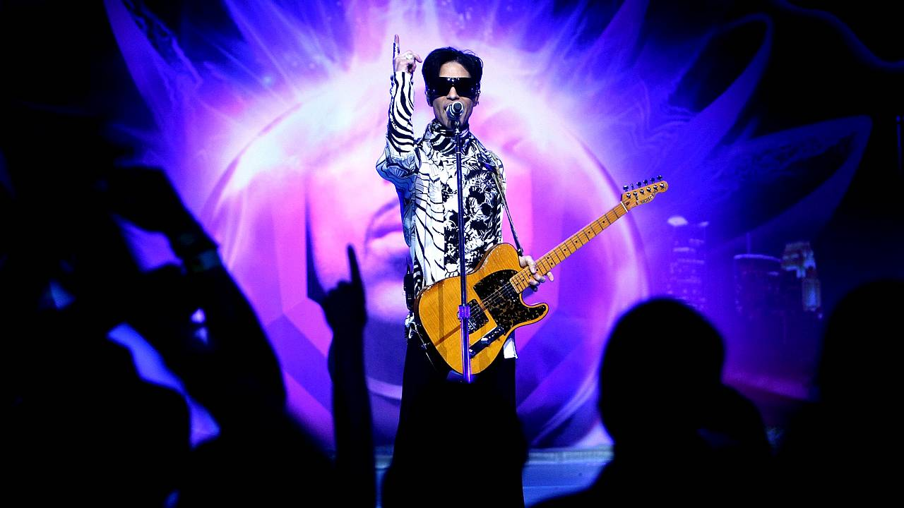 Image: Prince performs at the Nokia Theatre in Los Angeles on March 28, 200