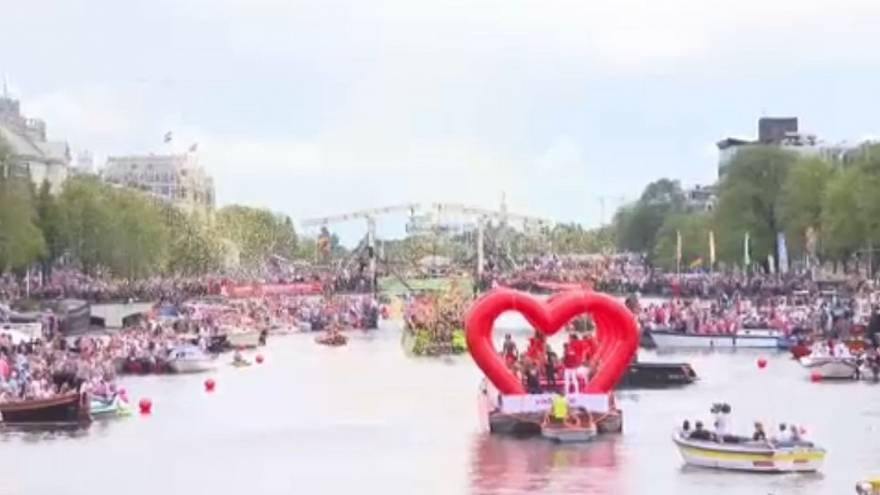 Amsterdam comes to life for Gay Pride