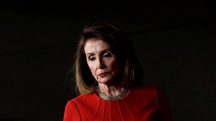 Image: House Speaker Nancy Pelosi arrives at her weekly news conference on