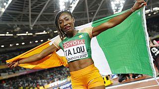 Ivory Coast celebrates Marie-Josee Ta Lou for IAAF silver medal