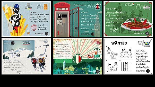 Η Ιντερπόλ «στέλνει» καρτ ποστάλ για να εντοπίσει τους πιο καταζητούμενους εγκληματίες!