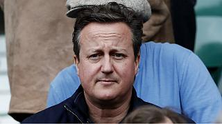 David Cameron pictured with Corbyn supporter at music festival