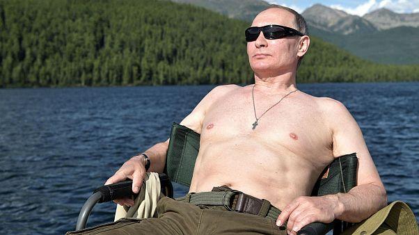Oben ohne beim Angeln: Putin, Trump und Co. im Urlaub