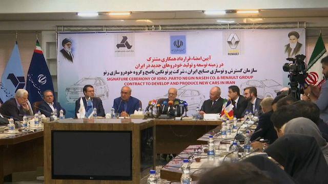İran ile Renault 660 milyon Euroluk anlaşma imzaladı