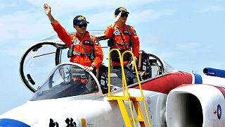 عرض القوات الجوية التايوانية قبل الذكرى السنوية