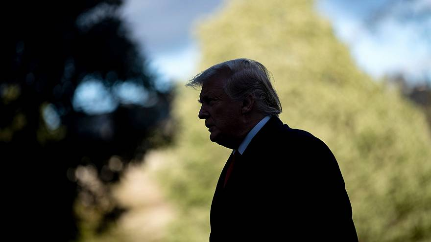Image: President Donald Trump returns to the White House on April 15, 2019.