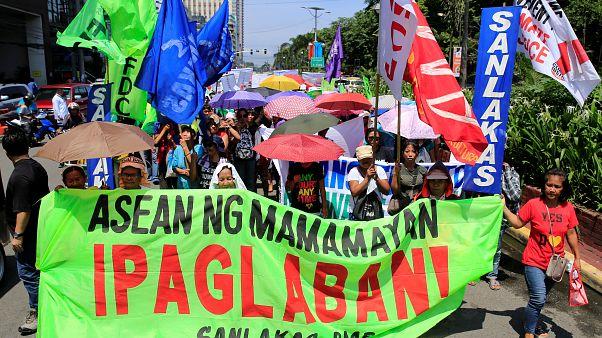 Asean-Gipfel in Manila: Aktivisten protestieren für Menschenrechte