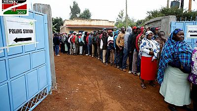 Thousands turn up at polling stations to vote for Kenya's next leader