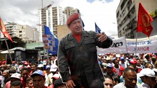 Maduro supporters march in Caracas
