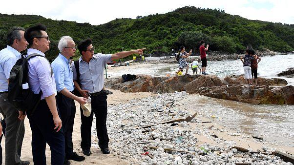 Olajszennyezés közömbösítése Lamma szigetén