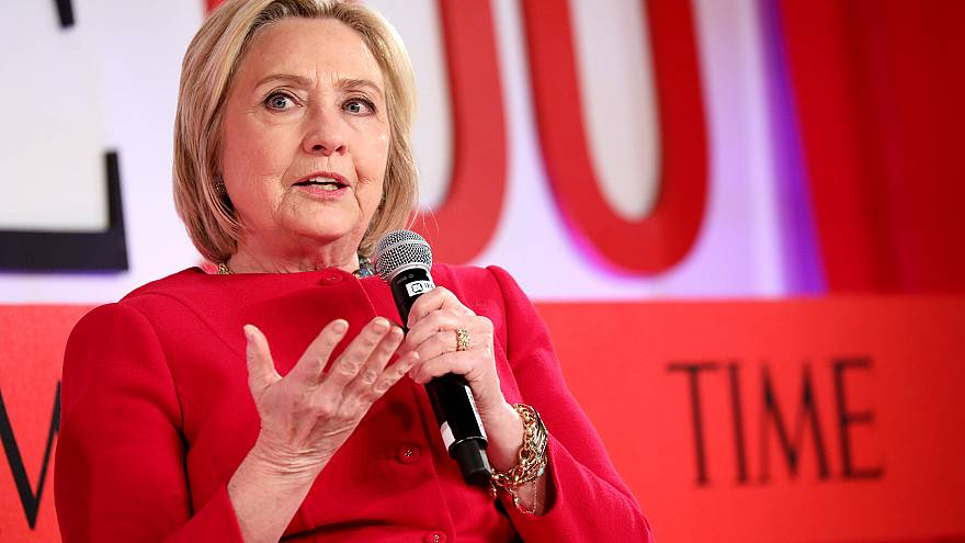 Image: Hillary Clinton speaks at the TIME 100 Summit on April 23, 2019 in N