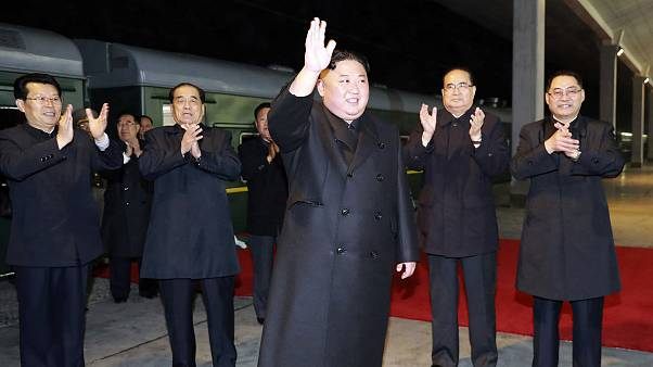 Image: Kim Jong Un departs North Korea
