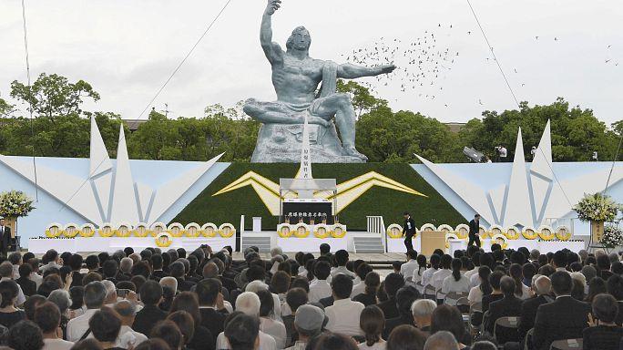 Az atombomba áldozataira emlékeztek Nagaszakiban