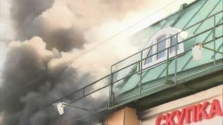 Tűz egy moszkvai bevásárlóközpontban