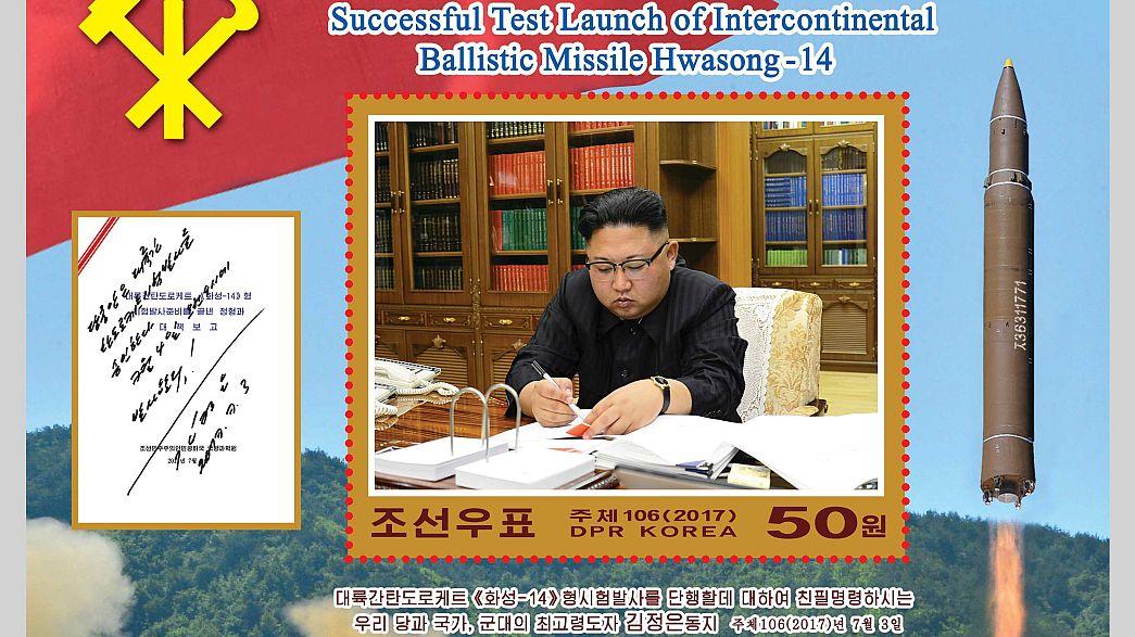 Corea del Nord: francobolli per celebrare test missilistico