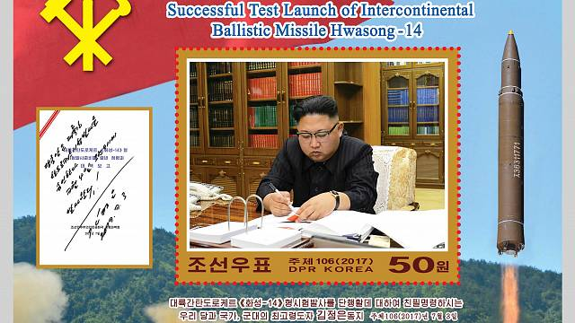 North Korea: Stamp collection commemorates ballistic missile launch