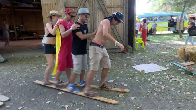 Antichi giochi al festival musicale Sziget