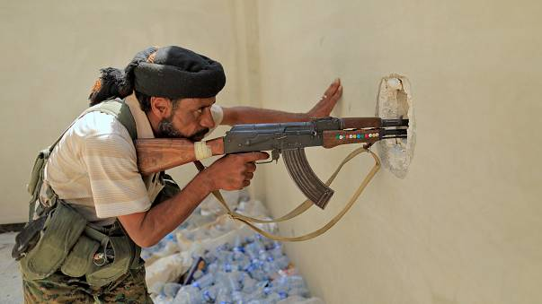 Gaining ground in Raqqa - US backed Syrian forces surround Islamic State fighters in push to take back the city