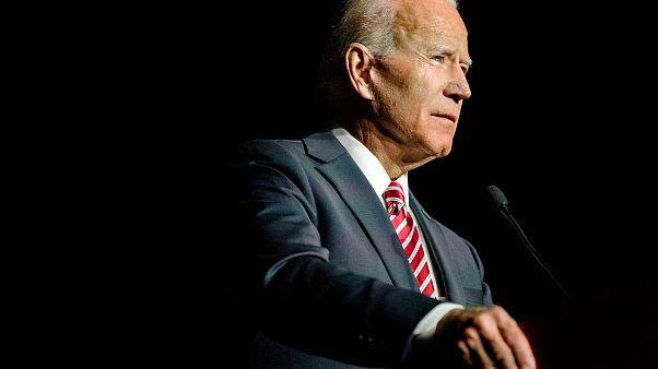 Image: Former Vice President Joe Biden speaks in Dover, Delaware, on March