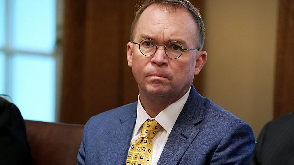 Image: Acting White House Chief of Staff Mick Mulvaney attends a meeting in