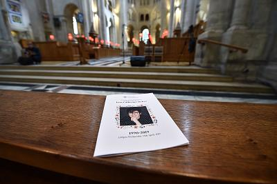 The order of service for the funeral for journalist Lyra McKee at St Anne\'s Cathedral on April 24, 2019 in Belfast, Northern Ireland.