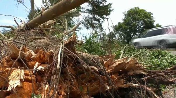 La tormenta tropical Franklin provoca fuertes lluvias