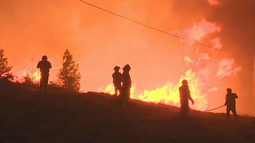 Milhares combatem as chamas em Portugal