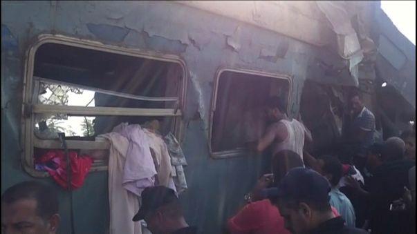 Zugunglück in Alexandria in Ägypten: mindestens 21 Tote und viele Verletzte