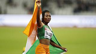 Ivorian athlete Talou wins silver in London