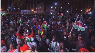 Kenya: Overnight jubilation and protests after president Uhuru's victory