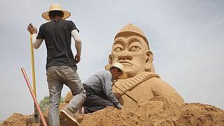 Çin'in dev kum heykelleri