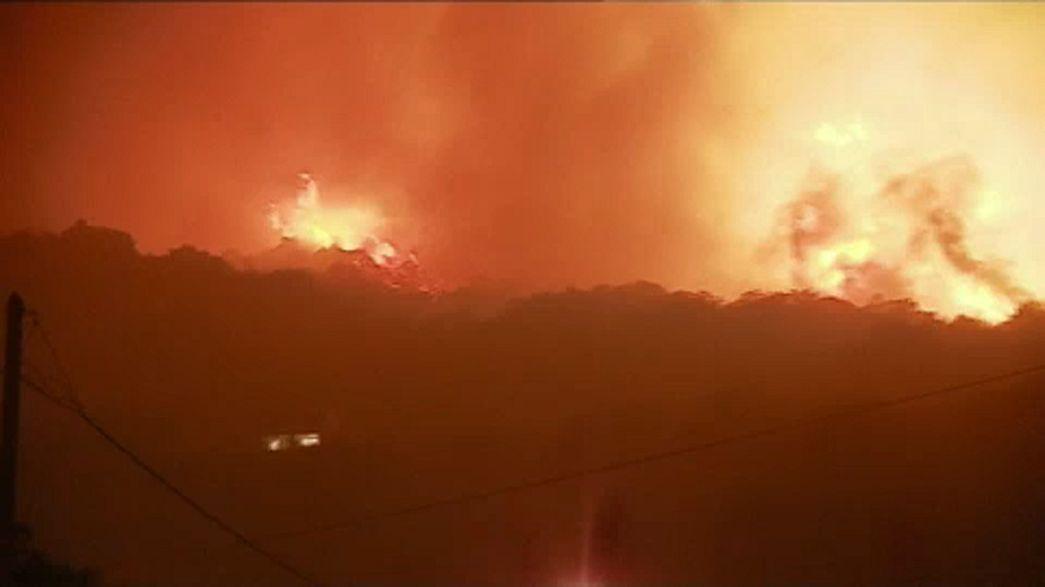 جنگلهای جزیره کورس فرانسه در آتش می سوزند