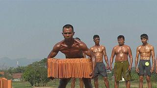 Flexing muscles in West Java