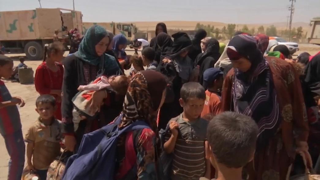 Hundreds of Iraqi's flee the city of Tal Afar over fears it will be the next battleground in the fight against so-called Islamic State