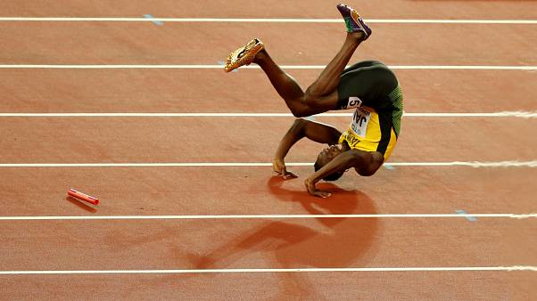 Bolt lesionado na última corrida em Londres