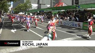 هنرنمایی دهها گروه رقص ژاپنی در جشنواره رقص یوساکوی