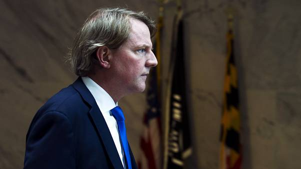 Image: White House counsel Don McGahn on Capitol Hill in Washington on Aug.