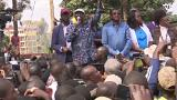 Raila Odinga s'adresse à ses partisans