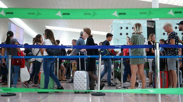 Streik am Flughafen Barcelona