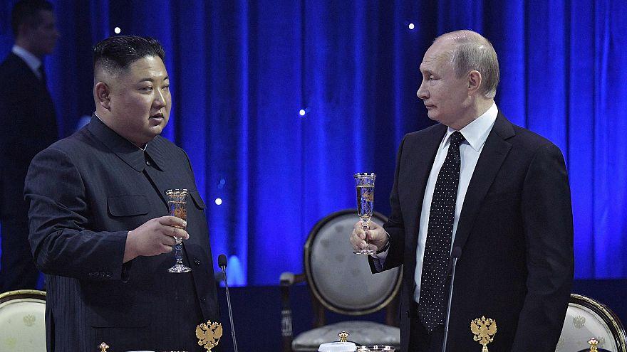 Image: Russian President Vladimir Putin and North Korean leader Kim Jong Un
