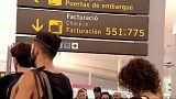 Káosz a barcelonai reptéren