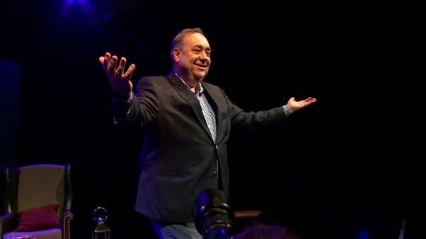 Scotland's former leader shows off his comic timing at Edinburgh