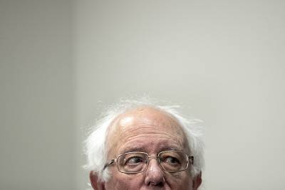 Sen. Bernie Sanders, I-VT, at a press conference at the Capitol on March 28, 2019.