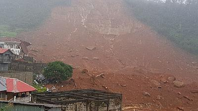 Sierra Leone landslide: Hundreds feared buried in houses submerged in mud